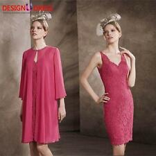 New Lace Mother of the Bride Dresses Outfit 3/4 Sleeves Jacket V Neck Custom