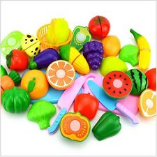 Kitchen Fruit Vegetable Food Pretend Reusable Role Play Cutting Set Showy Toys