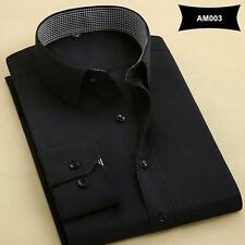 New Arrival Mens Turn-Down Collar Formal Shirts Men Long Sleeve Slim Fit Casual