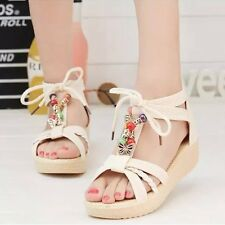 New Arrival 2016 Women Sandals Low Heel Wedges Summer Casual Single Shoes Woman