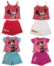 Kids Girls Minnie Mouse Top and Shorts 100% Cotton age 2-6 years