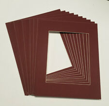 11x14 White Picture Mats with White Core for 8x12 Pictures - Fits 11x14 Frame