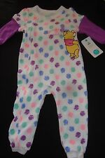 "DISNEY  WINNIE THE POOH FOOTED ROMPER NWTS ""BEE-UTIFUL BUTTERFLY"" 18 month"