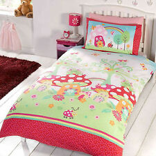 Unique Kids Bedding Duvet Cover with Lovely Colourful Fantasy Garden