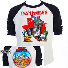 "IRON MAIDEN,""Texas Slavery"" Tour Baseball Shirt,All Sizes,T-938Blk,L@@K!"
