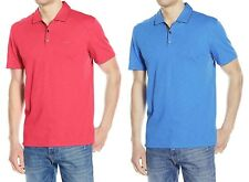 Calvin Klein Men's Slub Interlock Solid Polo Shirt