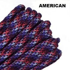 Paracord 550 Survival Rope Multi-Use Craft Projects 100% Nylon Made in USA  5-ft