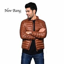 White Duck Down Jacket Men's Jacket Ultralight Down Jacket Outdoors Stand Collar