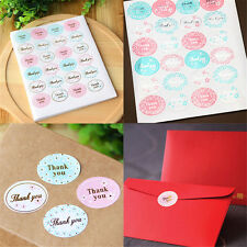 """120Pcs/5 sheets Oval """"Thank You"""" Adhesive Seal Sticker Label Envelope New Decor"""