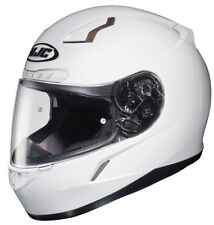 HJC Adult CL-17 Solid White Full Face Motorcycle Helmet Snell DOT