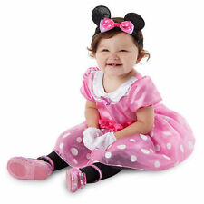 Disney Store Baby Deluxe MINNIE MOUSE Costume Dress Gloves Ears – 12 18 24 Month