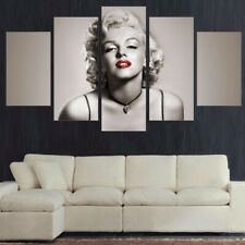 Framed Home Decor Canvas Print Painting Wall Art Marilyn Monroe Red Lips Poster