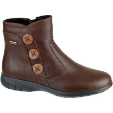 Cotswold Ladies Dowdeswell Leather Zip Fastening Ankle Boot Brown