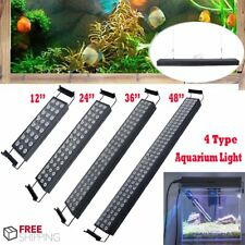 "12"" 24"" 36""  48'' Aquarium Light Fish Tank Multi-Color LED Full Spectrum Lamp 3W"