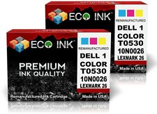 ECO INK © Dell Series 1 Dell T0530 Color inkjet Cartridge Dell 720 A920A 2 PacK