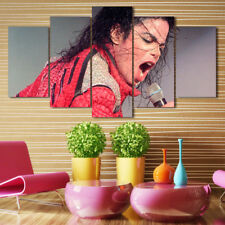 Framed Home Decor Canvas Print Painting Wall Art Michael Jackson Singing Poster