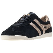 Gola Bullet Mirror Womens Trainers Black Gold New Shoes