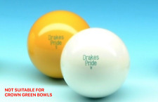 Drakes Pride Standard Outdoor White/Yellow Lawn Bowls Jack