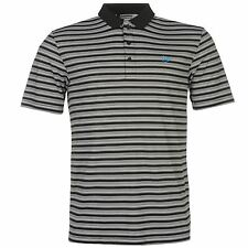 Dunlop Stripe Polo Shirt Mens Black/White Collared T-Shirt Top Tee Sportswear