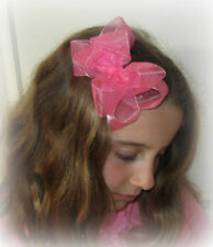 Lot Set You Pick 15 Organza Double Layered Fancy Hair Bow Sheer Hairbows Photos