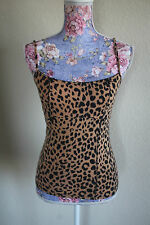 betsey johnson leopard print top S