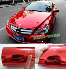 Full Roll - Car Glossy Mirror Red Chrome Vinyl Film Wrap Sheet Sticker Decal