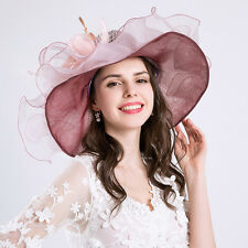New Large Womens Sinamay Wedding Hat Mother Of The Bride/Groom Ascot