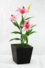 Real Touch Lily Flowers Stem Flexible Artificial Clay Flower 5""