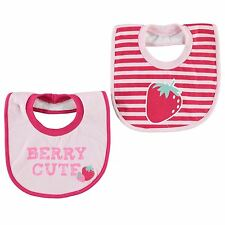 Crafted Strawberry Toweling Bib infant Baby Pink Babies Feeding Dribble Bib