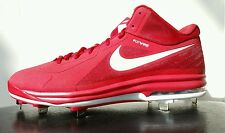 New NIKE AIR MAX MVP ELITE Mid Metal Baseball Cleats Mens 13.5 Red 524957-610