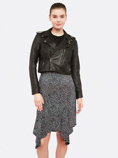 New Oxford LIZZY CROP LEATHER JACKET in BLACK