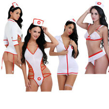 Sexy Halloween White Doctor Nurse Costume Adult Women Outfit Dress Lingerie Sets