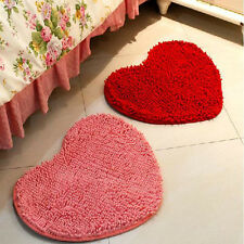 Fluffy Heart Foam Rug Non Slip Bedroom Mat Door Floor Carpet Heart Floor Mat