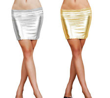 Stunning Faux Leather Skirt. Red Black Silver Gold Wine Zip Mini Knee