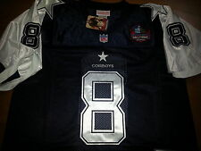Brand New Dallas Cowboys #8 Troy Aikman Throwback HOF Patch sewn Jersey MENS