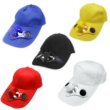 Sporting Solar Wind Power Hat Cap Cooling Cool Fan F Golf Outdoor Hiking Camping