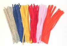 "PIPECLEANERS 150mm Long (6"") by 4mm thick Various Colours available Pack of 20"