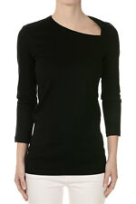 ISABEL MARANT New Woman Black Cotton T-Shirt Long Sleeves Made in Portugal NWT