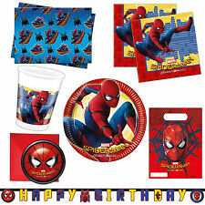 Spider-Man Homecoming Movie Party Supplies Plates Napkins Tableware Listing