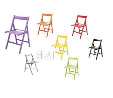 FOLDING CHAIR FOLDING FOLDING WOOD BEECH CHAIRS VARIOUS COLORS COLORED