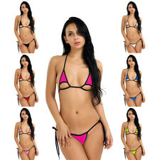 Hot Brazilian Women Mini Bikini Top Bottom Set Beach Swimsuit Triangle Swimwear