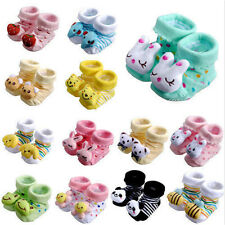 Fashion Newborn Baby Boy Girl Anti Slip Shoes Animal Cartoon Slipper Boots Socks
