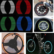 Motorcycle 16 Strips Reflective Car Rim Stripe Wheel Decal Tape Sticker 4-color