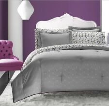 Elegant Grey Skulls Diamond Trellis Comforter  7 pcs Queen Full Twin Bedding Set
