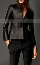 Women Genuine Lambskin Motorcycle Real Leather Slim fit Coat/Jacket for Biker