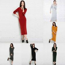 Sales Womens Knitted Dress Autumn Winter Slim Party Charming Loose Dress US KEP