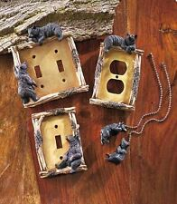 Bear Decorative Rustic Single Double Light Switch Electric Outlet Plate Fan Pull