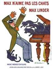 Max Linder Does Not Like Cats 1913 Pathe Freres French Silent Movie Poster