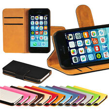apple iphone 6 6s Plain flip wallet case cover PU leather Card Pocket With Clip