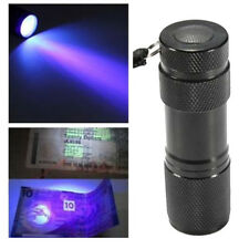 Best MINI 9 LED Ultra Violet UV Blacklight Portable Flashlight Torch Light Lamp